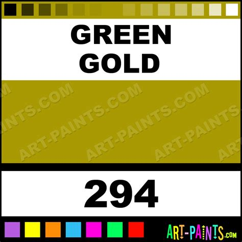 green gold galeria acrylic paints 294 green gold paint green gold color winsor and newton