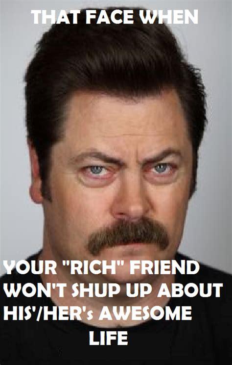 Meme Annoyed - ron swanson s annoyed face meme 3 by spyrogirl91 on