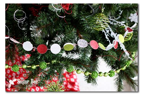 diy holiday circle garland sugar bee crafts