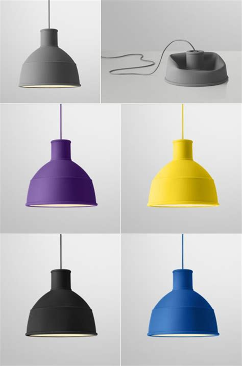 unfold pendant by muuto made of soft silicone rubber to