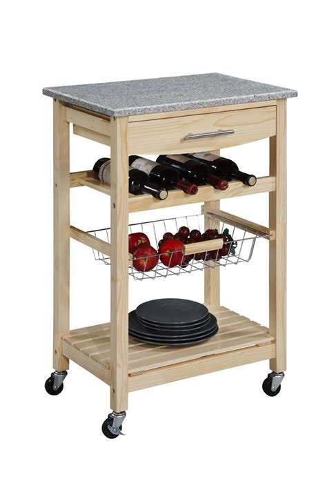 kitchen island cart with granite top finish granite top kitchen island cart
