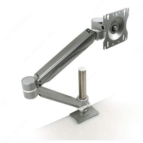 monitor arm glass desk single arm lcd flat panel desk mount single screen