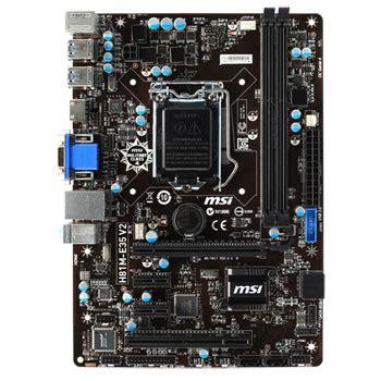 Mb Msi H81m E35 V2 Socet 1150 msi h81m e35 v2 micro atx motherboard ln61958 scan uk