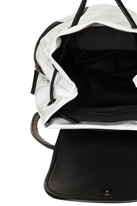 Patent 70s Luggage At Topshop by Topshop Patent Mini Backpack In White Lyst