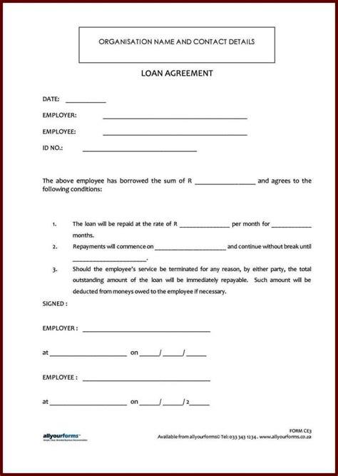 standard loan agreement template standard loan agreement template free sletemplatess