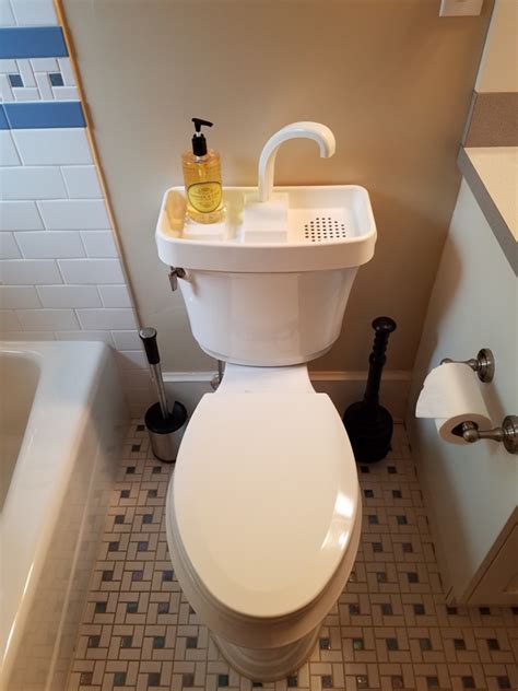 toilet with washing sink toilet lid sink toilet sink by sinktwice