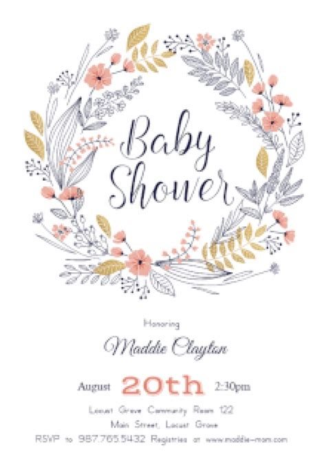 free baby shower invites templates baby shower invitation free baby shower invitation