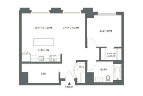 one bedroom and a den the montgomery condominium homes san francisco floor plans