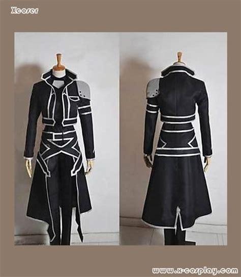 Jubah Jaket Sword Sao xcoser costumes sword sao alo kirito jacket japanischen anime schwarz