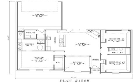 Open Floor Plans One Story by Open Ranch Floor Plans Single Story Open Floor Plans With