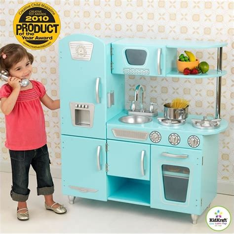 Kidkraft Kitchen Blue by Kidkraft Light Blue Vintage Play Kitchen 53227