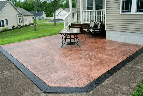 Cost To Build A Concrete Patio by Cost Of Sted Concrete Patio Vs Pavers Home Design Ideas
