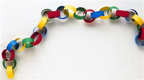 Make Paper Chain - the journal and the paper chain a diary of a