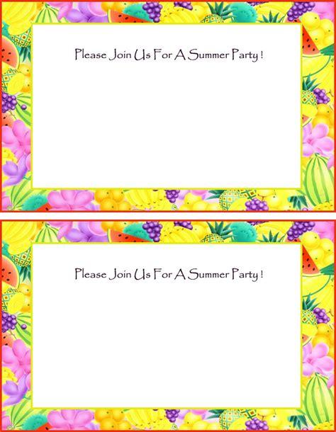 summer invitation templates free 7 best images of summer printable invitations