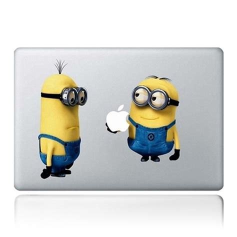 free shipping 2400dpi minion laptop decal for macbook