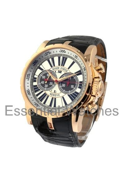 Roger Dubuis Silver Black ex45 78 50 00 03r01 b1 roger dubuis excalibur 45mm