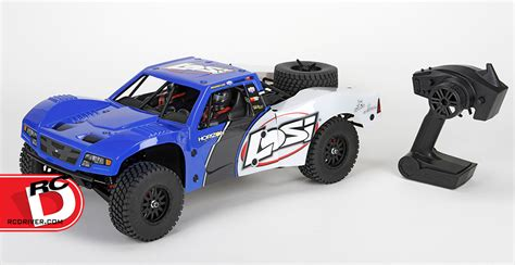 rc baja truck baja 1 10 scale avc enabled 4wd trophy truck from losi