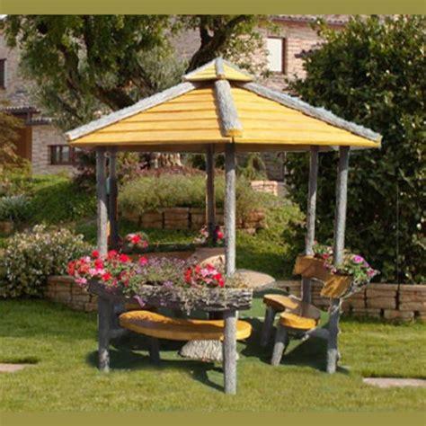 gazebo esagonale in legno gazebo esagonale miccich 232 architetture da giardino