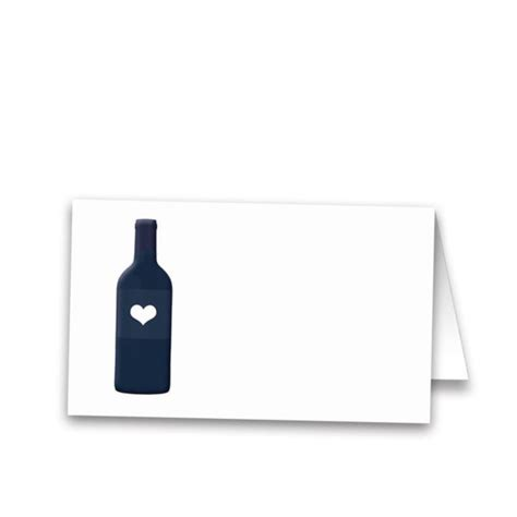Gift Card Winery - wine bottle vineyard wedding escort seating cards