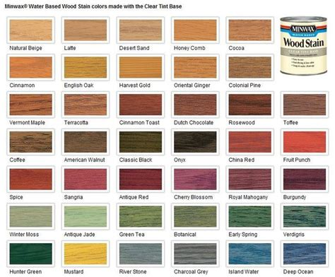 minwax water based stain colors 17 best ideas about wood stain colors on stain