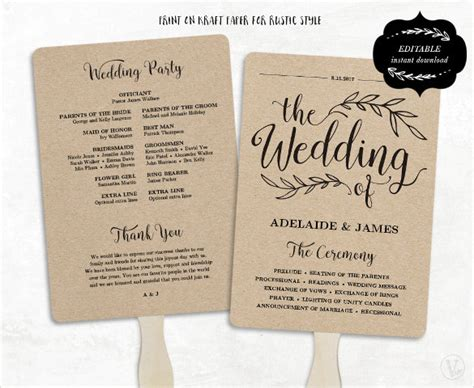 Wedding Fan Program Template wedding program template 41 free word pdf psd