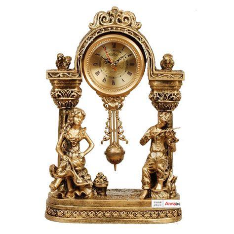 decorative clock lai sheng watches retro classic antique gold clock