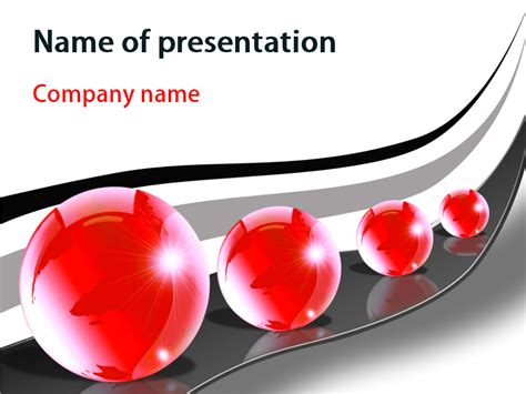 download free red bubbles powerpoint template for