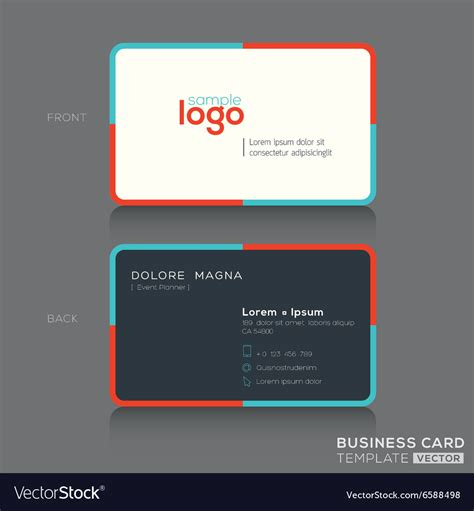 simple business card design template modern simple business card design template vector image