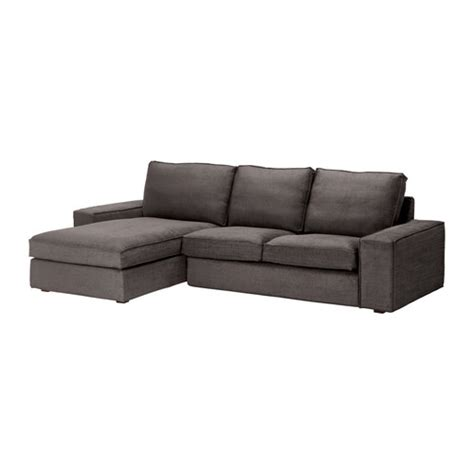 Loveseat With Chaise Lounge Kivik Loveseat And Chaise Lounge Tullinge Gray Brown Ikea