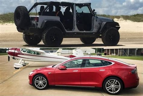 tesla jeep from jeep wrangler to tesla model s going from one