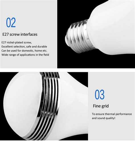 Smart Multicolor Bulb Bluetooth Speaker promotion multicolor change globe smart bluetooth speaker bulb l led light buy led