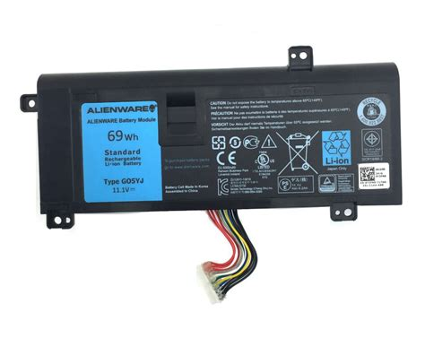 original 69wh dell alienware g05yj 0g05yj battery