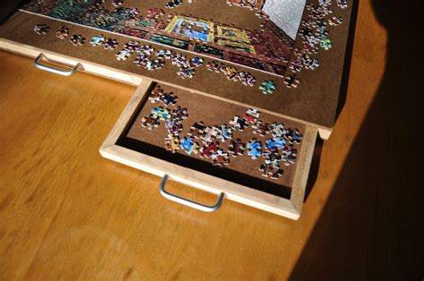 jigsaw puzzle table with drawers plans 4 drawer puzzle board by kram79 lumberjocks