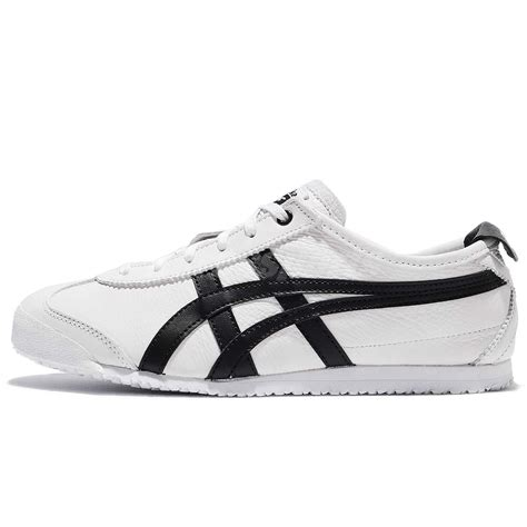 Asics Onitsuka Tiger Mexico Sepatu Sneakers Pria asics onitsuka tiger mexico 66 white black leather classic shoes d508k 0190 ebay