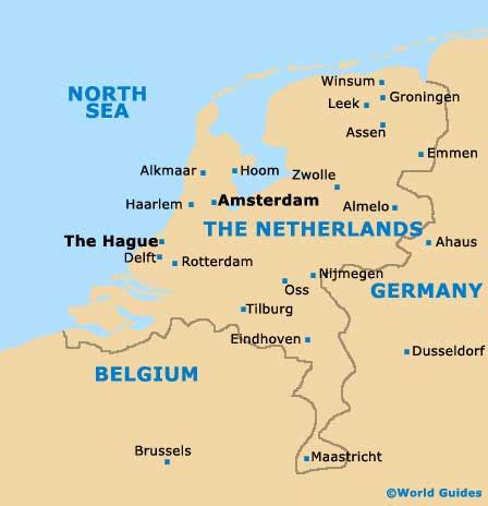 where is amsterdam on the map the hague maps and orientation the hague south