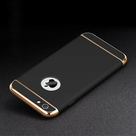 Iphone 6 Plus Hardcase Gold Custom for iphone 6s plus 6 iphone6 gold luxury back cover black accessories coque for