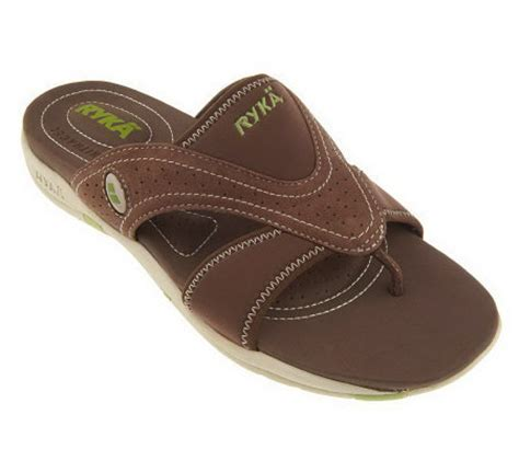 qvc ryka sandals ryka comfort sport sandals with center goring page