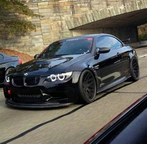 bmw m3 slammed bmw e92 m3 black slammed black on black pinterest