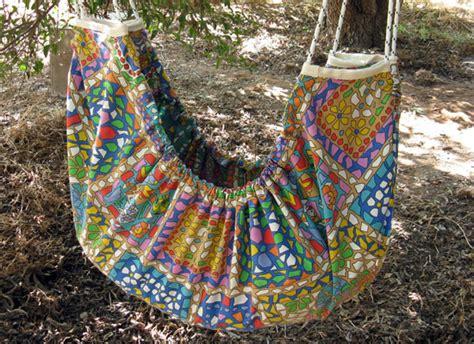 Handmade Hammock - zaza handmade fabric hammocks let ones swing into