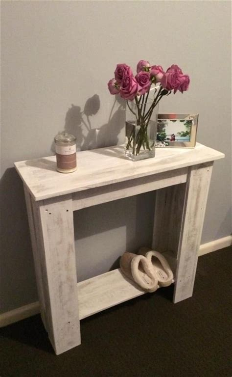 upcycled pallet hallway table wooden pallet furniture