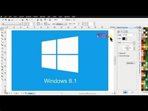 youtube tutorial windows 8 tutorial membuat logo windows 8 dengan coreldraw belajar