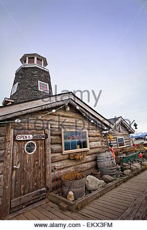 salty saloon historic salty dawg saloon on the homer spit a 4 5 mile spit stock photo royalty