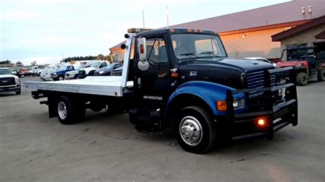 flatbed tow truck for sale international 4700 with chevron rollback tow truck for