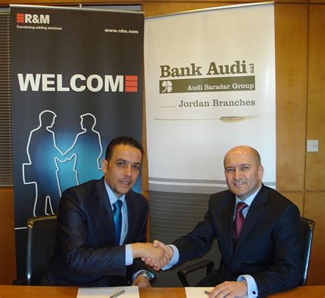 Bank Audi Turkey by Bank Audi Jordan Extends R M Partnership With Network