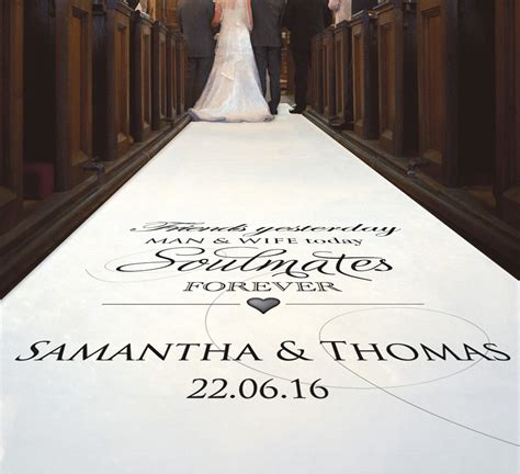 Wedding Aisle Runner Cheap by Personalized Wedding Aisle Runner Cheap Wedding And