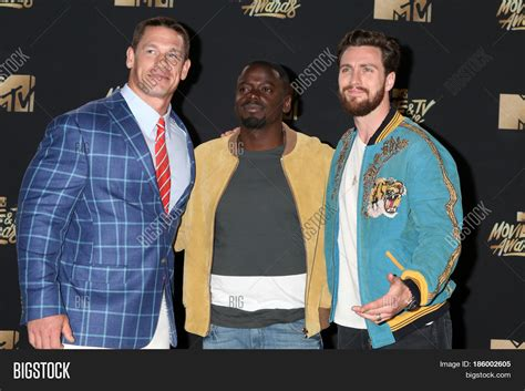 john cena aaron taylor johnson movie los angeles may 7 john cena daniel kaluuya aaron