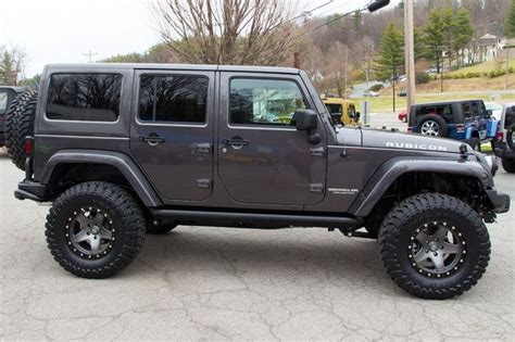 2014 Jeep Wrangler Rubicon For Sale Graphite Side View