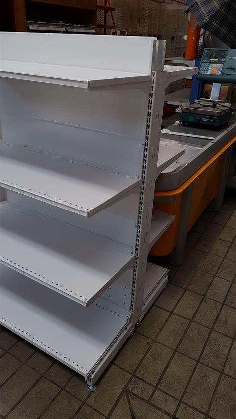 scaffali per negozi usati scaffalatura usata per negozio tipo gondola scaffali