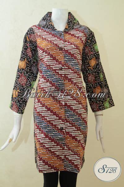 Desain Baju Batik Buat Orang Gemuk | pakaian blus batik klasik parang ikan baju batik 3l pas