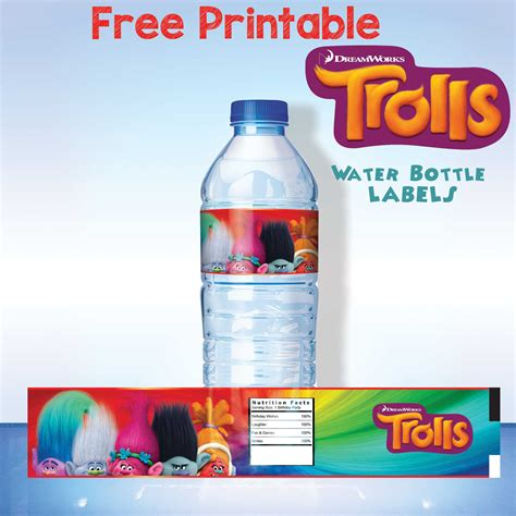 printable labels for water bottles free free printable trolls water bottle label drevio